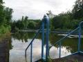Einstieg ins Schwimmbecken